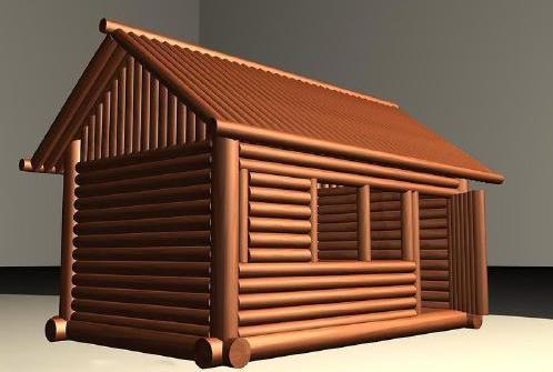 绍兴小木屋建造效果图